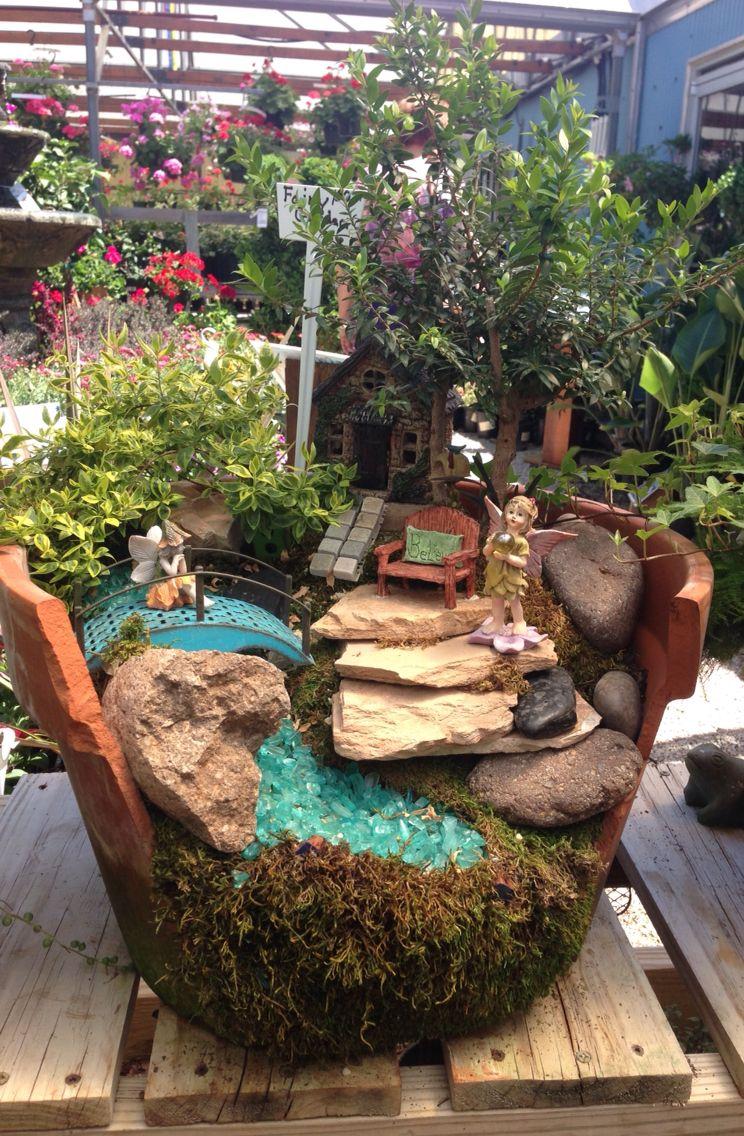 Exceptionnel Fairy Garden In A Broken Terra Cotta Pot ~ Rainbow Gardens, Bandera Rd, San  Antonio TX