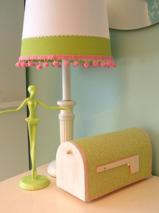 Pink And White Lamp