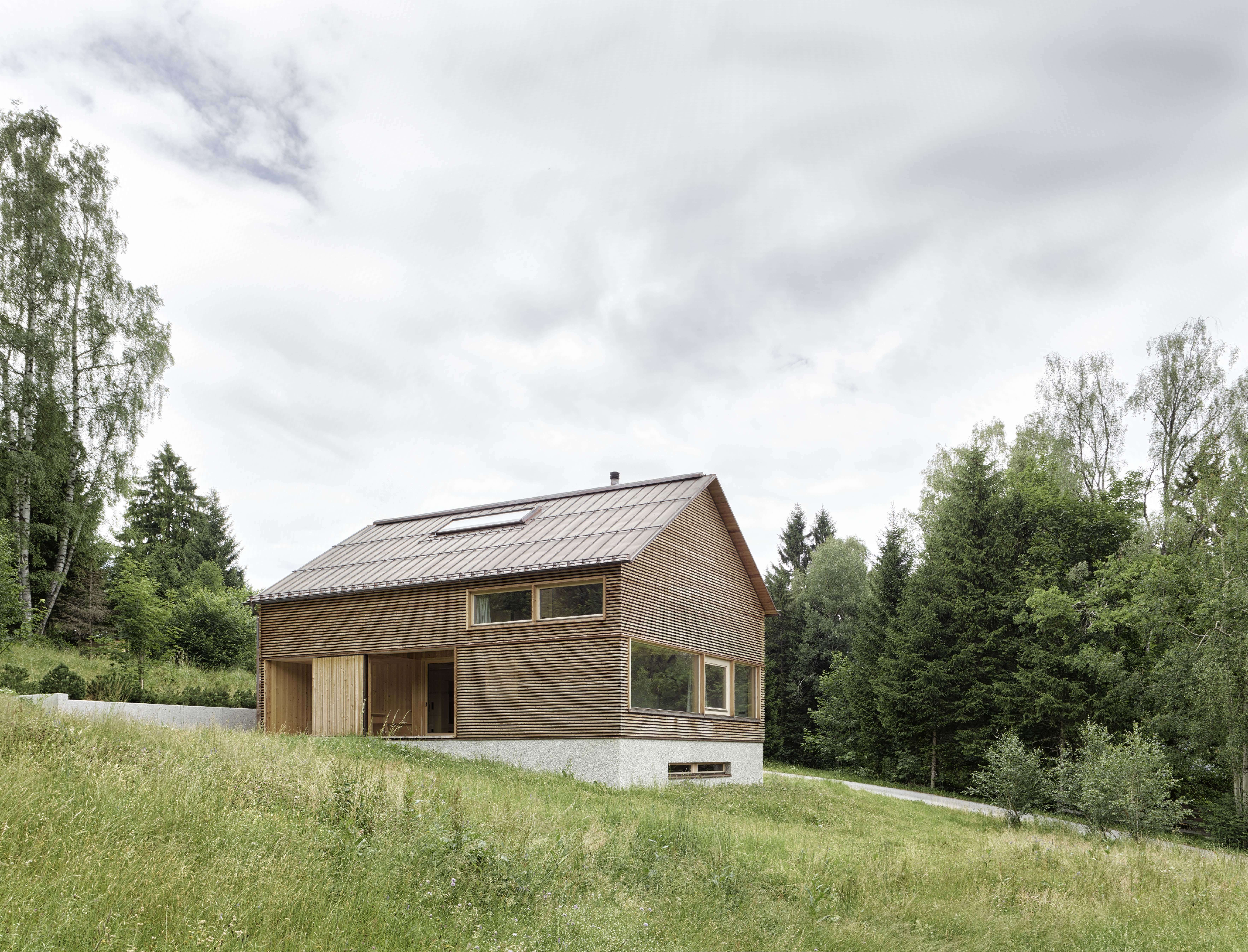 Innauer Matt Architekten Designed The House As Simple Wooden Building  Resting Atop A Solid, Reinforced