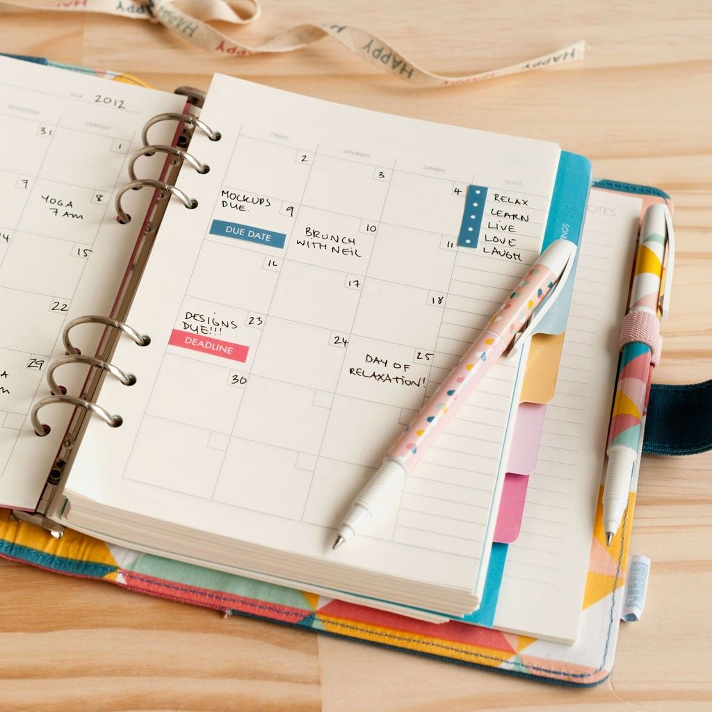 Personal Planner Refill Happy