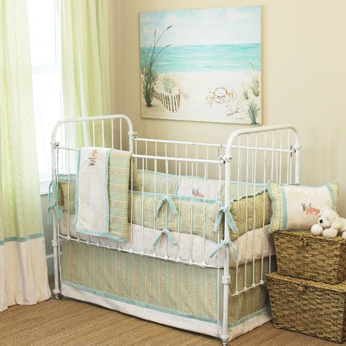 Beach Baby Bedding | Beach baby rooms, Baby girl nursery ...