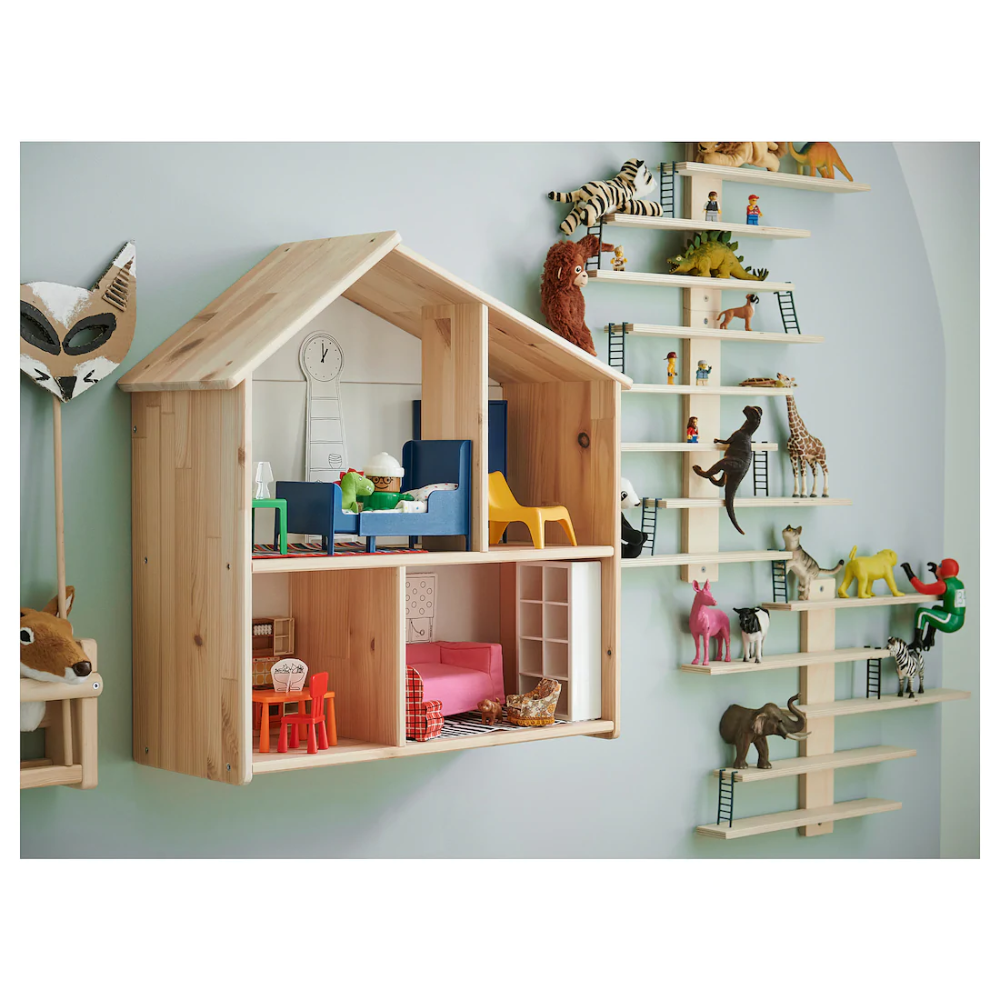 Flisat Doll House Wall Shelf In 2020 With Images House Shelves Wall Shelves Ikea Dollhouse