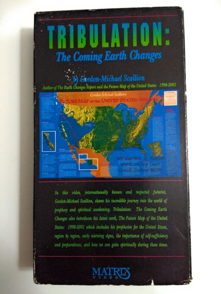 Future Map Of The World Gordon Michael Scallion.Tribulation The Coming Earth Changes Gordon Michael Scallion Vhs