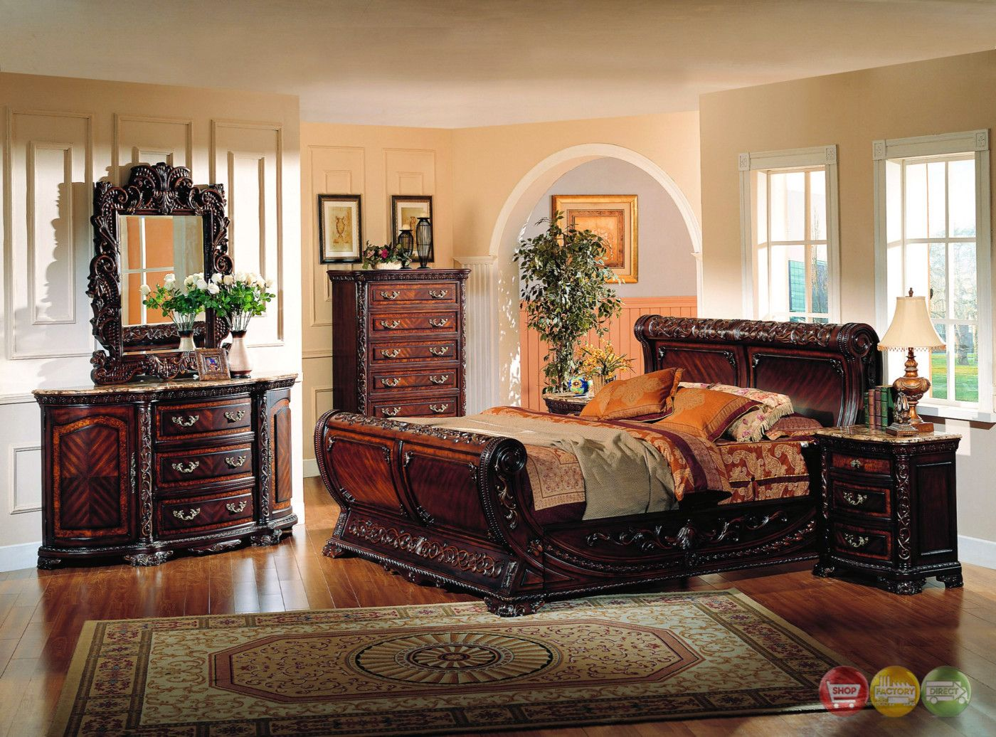 Best Cannes Sleigh Bed Traditional Luxury Bedroom Furniture Col 400 x 300