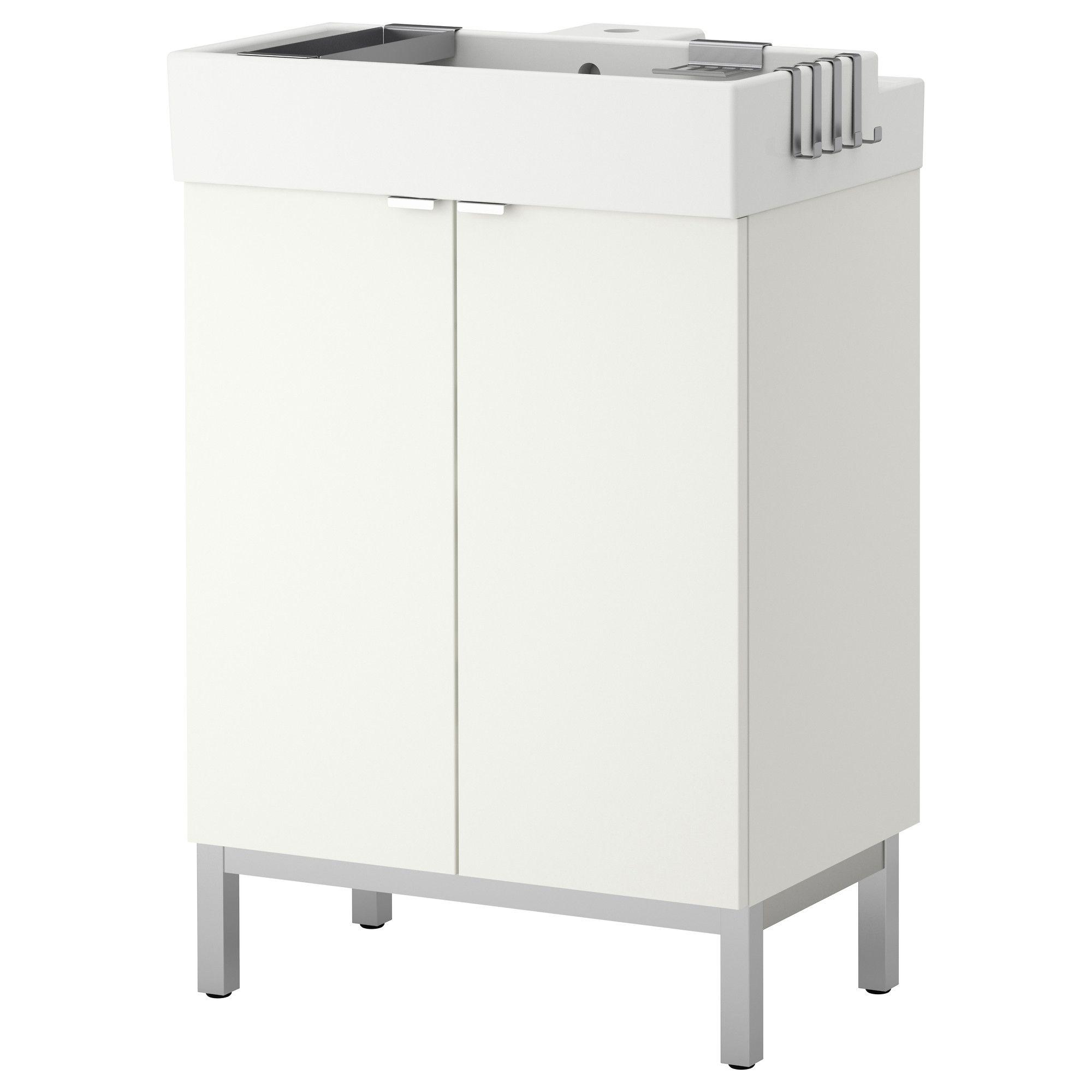 Lillangen Element Lavabo A 2 Portes Blanc 60x41x92 Cm Ikea