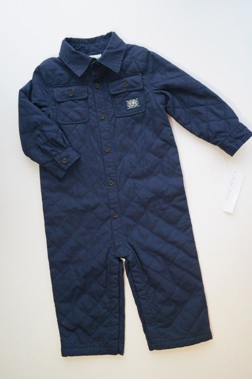 c11e0fae3 NWT POLO RALPH LAUREN Navy Blue Quilted Suit Romper Fall Winter Baby Boys  12M #RalphLauren #Snowsuit #Everyday