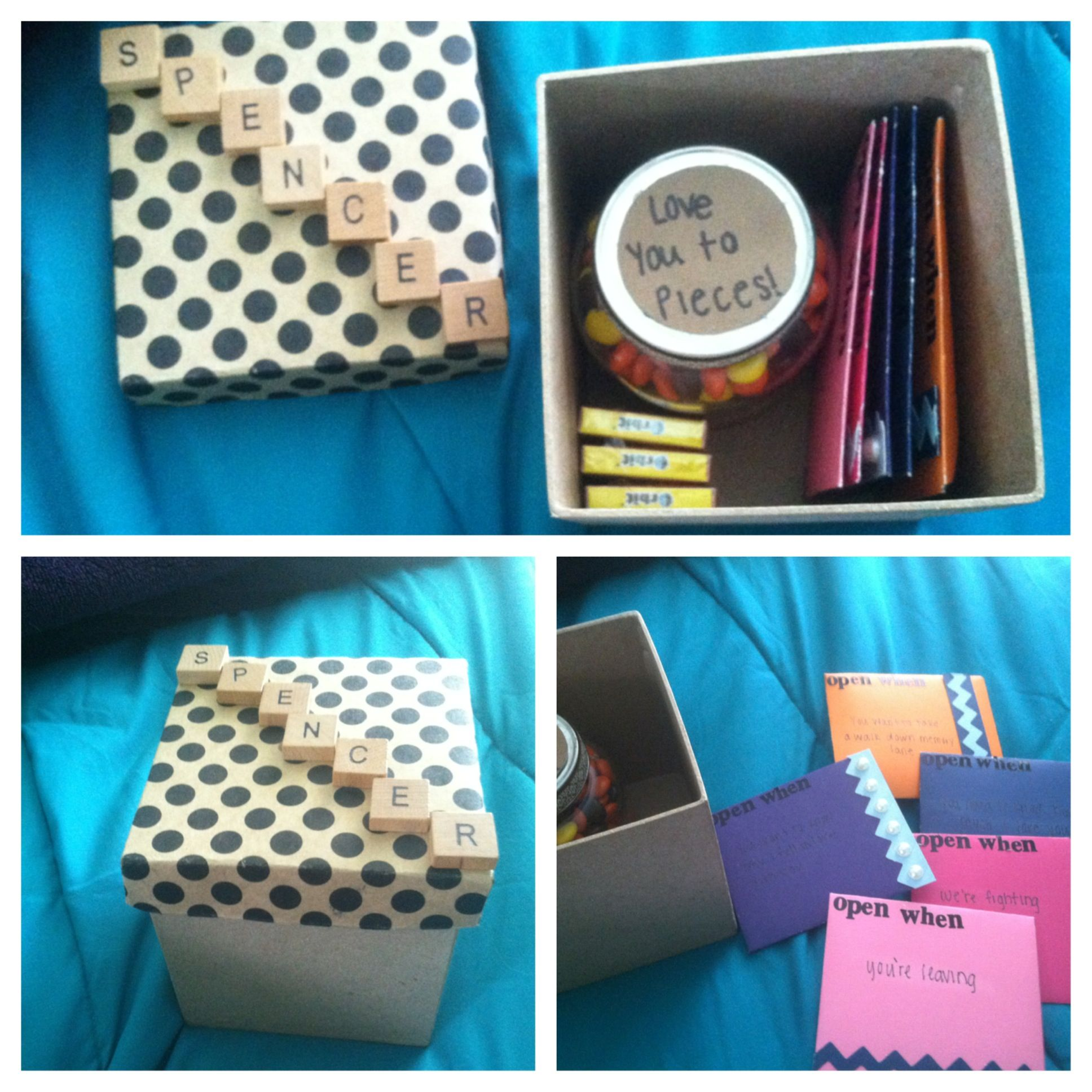 Going Away Gift For The Boyfriend When He Leaves For College Open When Cards Or Any Other