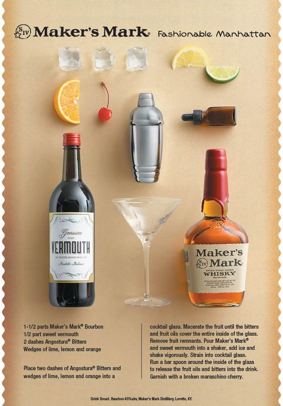 The Fashionable Manhattan - a combo of 2 drinks that never go out of style.   #Manhattan #OldFashioned #Classic