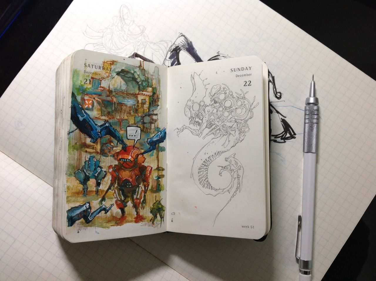 Number 356 of Kenneth Rocafort's 365 day sketch project.