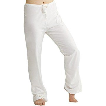 b1269639722d Cottonique Women's Latex-Free Drawstring Lounge Pants made from 100%  Organic Cotton (Natural)