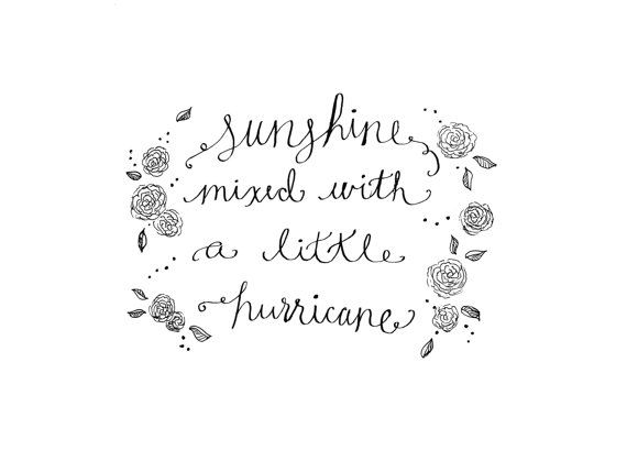 Sunshine Mixed With A Little Hurricane 8x10 By Shopeversunshine