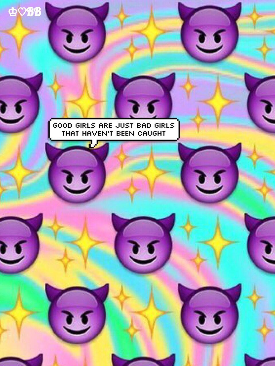 Iphone icon wallpaper tumblr - Purple Devil Emoji Tumblr