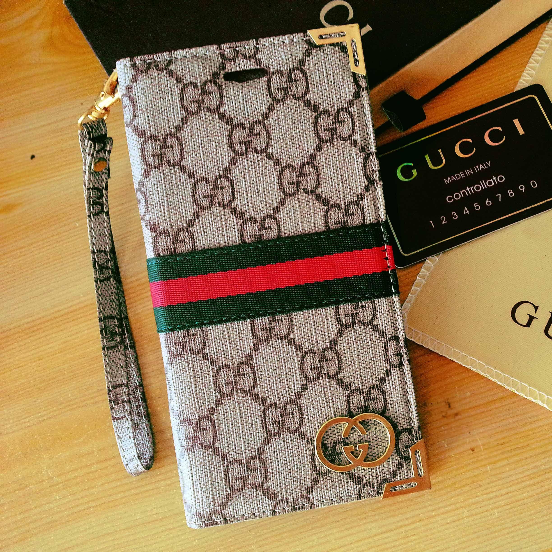 iPhone 6 Gucci Plus Case Wallet Designer Phone Cover Beige