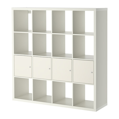 Kallax Shelf Unit With 4 Inserts White 57 7 8x57 7 8 Kallax Shelving Unit Kallax Ikea Ikea Kallax Shelf