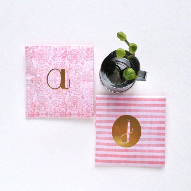 DIY Gold Monogrammed Labels   Whimseybox