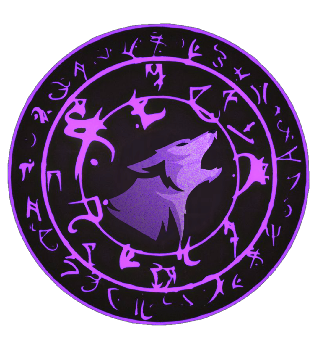 Purple wolf PNG Logo . Click The Photo For PNG Format and