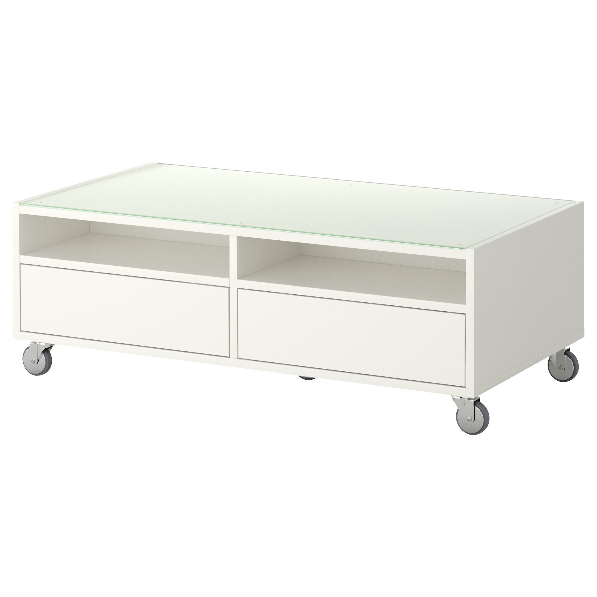 Boksel coffee table white ikea 100 home pinterest living room boksel coffee table ikea top in tempered glass protects surface from stains includes casters making it easy to move geotapseo Gallery
