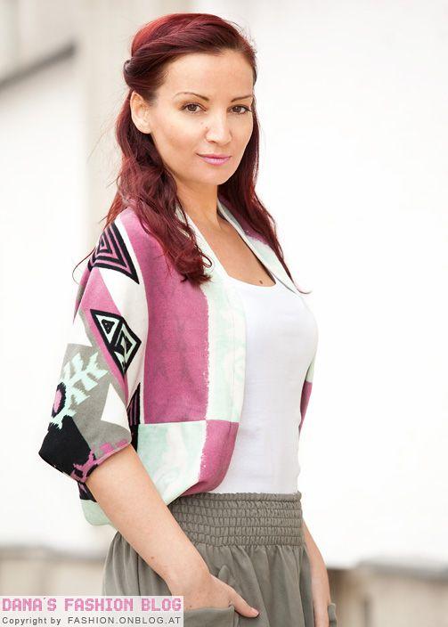 Endergebnis Bolero mit Tribalmuster seitlich - Fashion DIY Tutorial ...