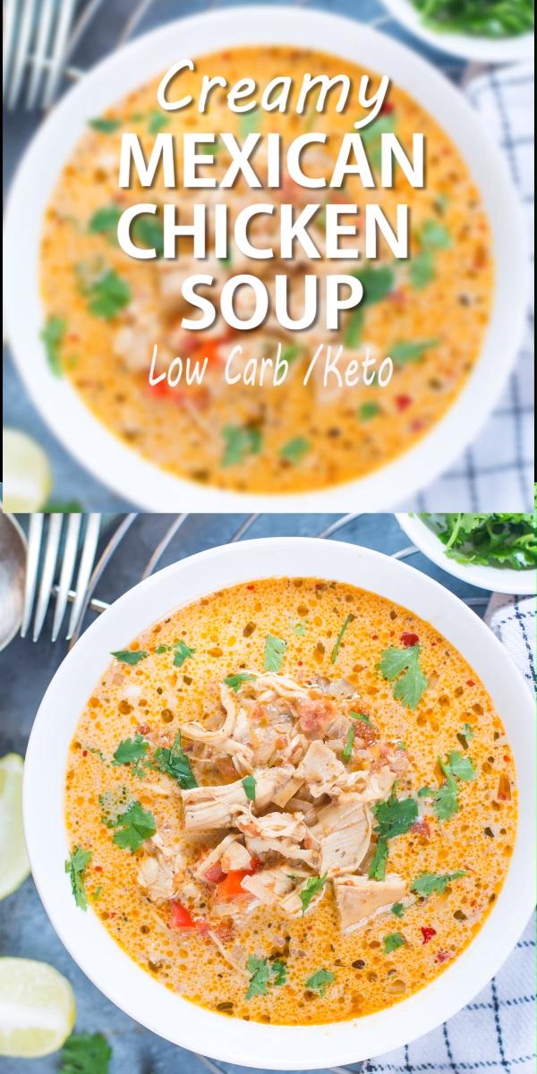 Mexican Chicken Soup  #mexicanchickentacos