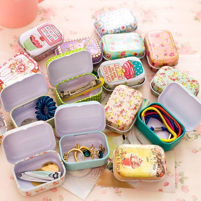 Kleurrijke mini blikken doos Verzegelde jar verpakking dozen sieraden, bonbondoos kleine opbergdozen blikjes Munt oorbellen, hoofdtelefoon geschenkdoos