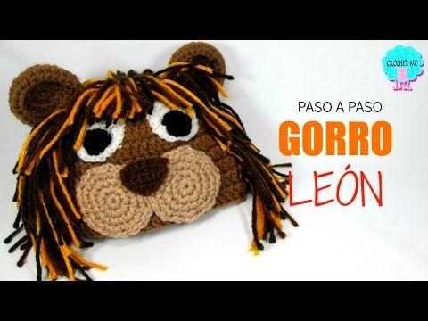 León Amigurumi Tutorial : Tutorial gorro de león a crochet en todas las tallas youtube