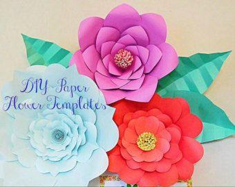 Paper flower Templates, DIY Giant Paper flowers, DIY flower ...