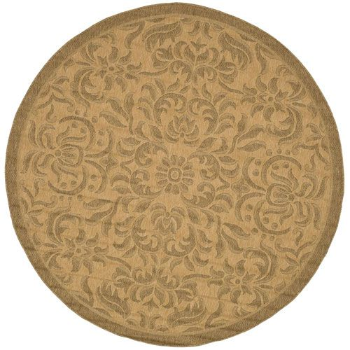 Courtyard Natural and Gold Round: 6 Ft. x 6 Ft. Rug