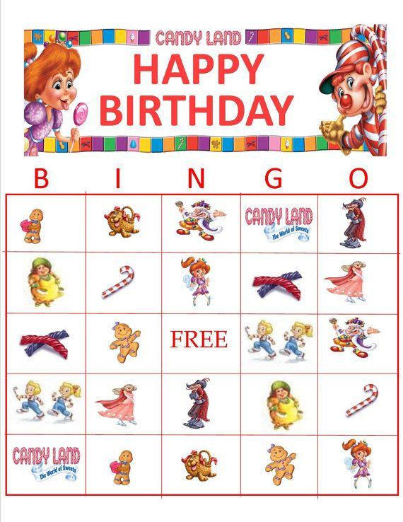 Candyland Bingo Instant Download   peppa pig   Pinterest   Candyland ...