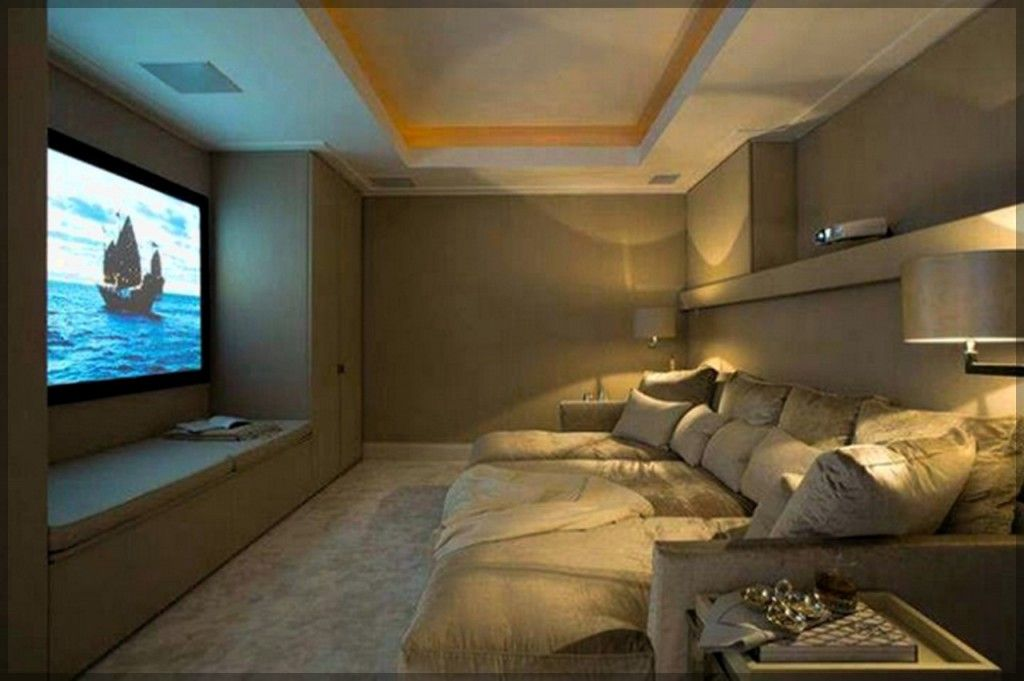 Small home theater basement ideas luxury homes for Small room movie theater