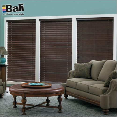 Bali 2 1 Northern Heights Shutter Style Wood Blinds In Mocha These Wide Slats Give You The High End Look Of Shutters With Versatility A Blind