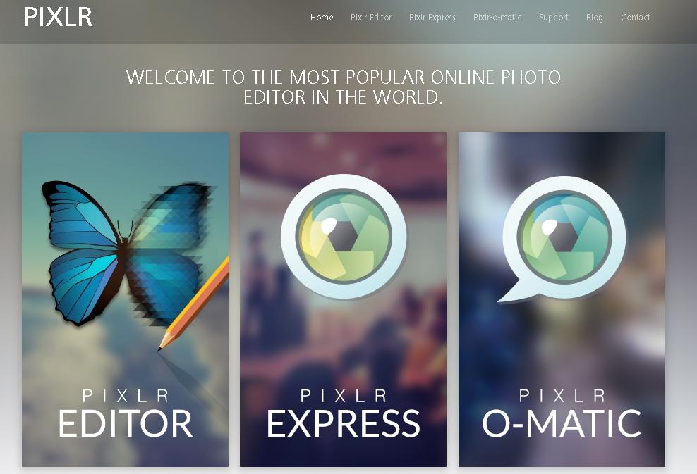 Caixa de ferramentas: Pixlr