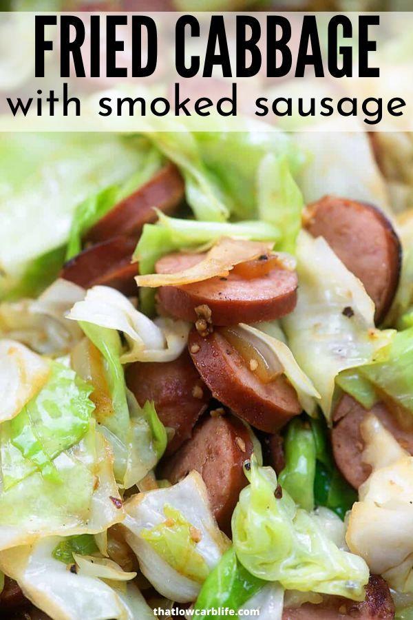 Smoked Sausage Fried Cabbage #sausagedinner