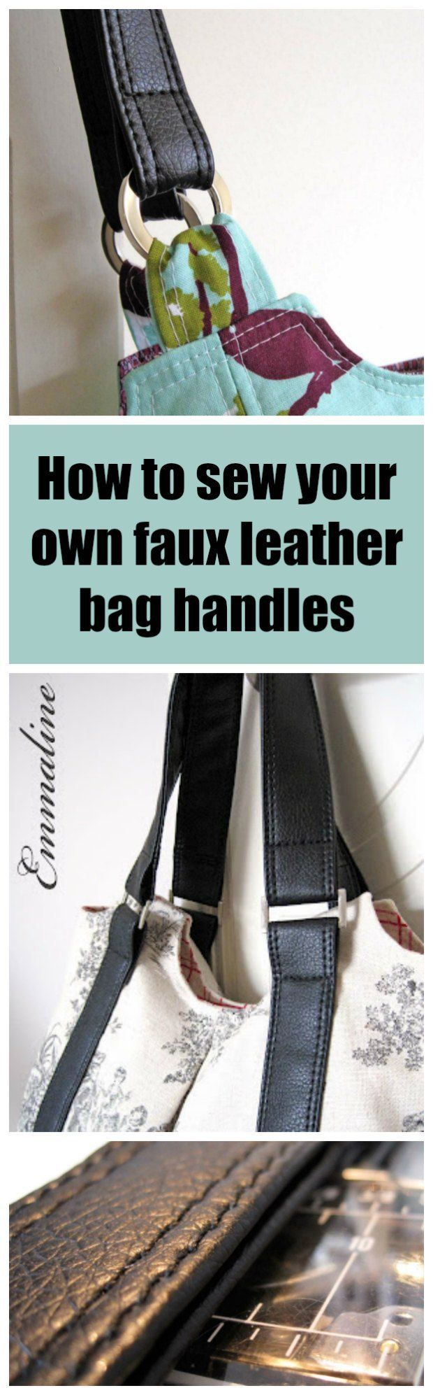 This Is The Ultimate Tutorial For How To Make Your Own Faux Leather Handbag Straps And Handles No Thick Layers Raw Edges Just Perfect Bag