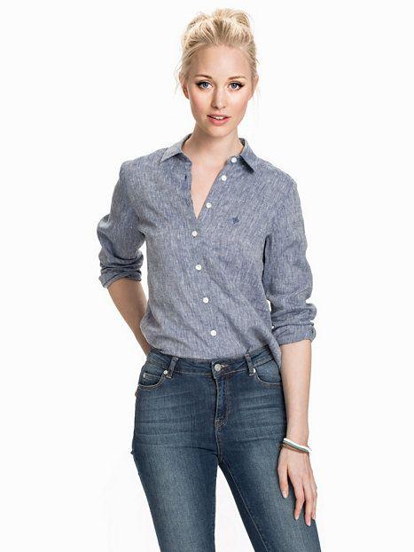 official photos ceffe aa6aa Kirsten Linen Shirt - Morris - Navy - Blusen & Hemden ...