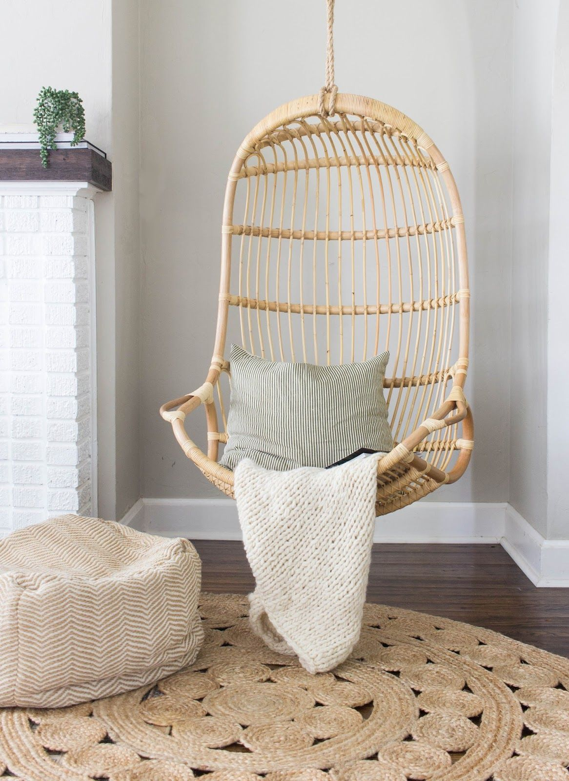 Always Rooney Hanging Chair Office Chair Cushion Jute Round Rug