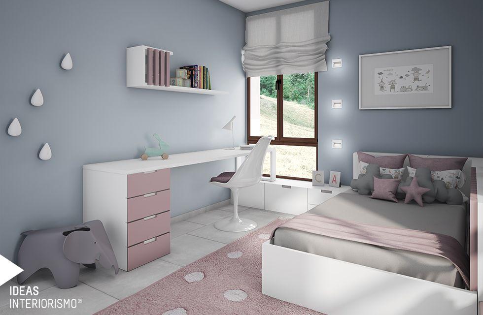 Una sencilla y bonita habitaci n para la peque a de la for Estudiar decoracion de interiores a distancia