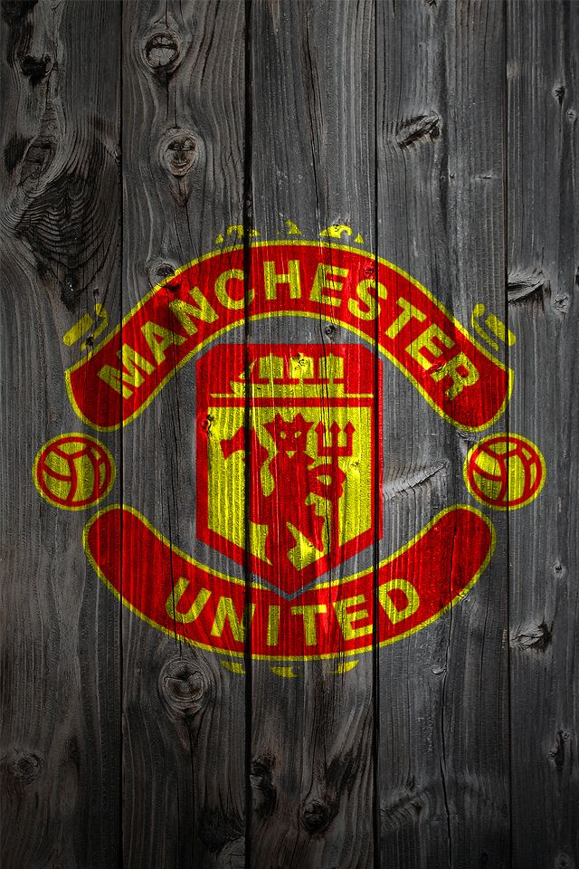 Manchester United Wood Iphone 4 Background Manchester United Wallpaper Manchester United Logo Manchester United Wallpapers Iphone