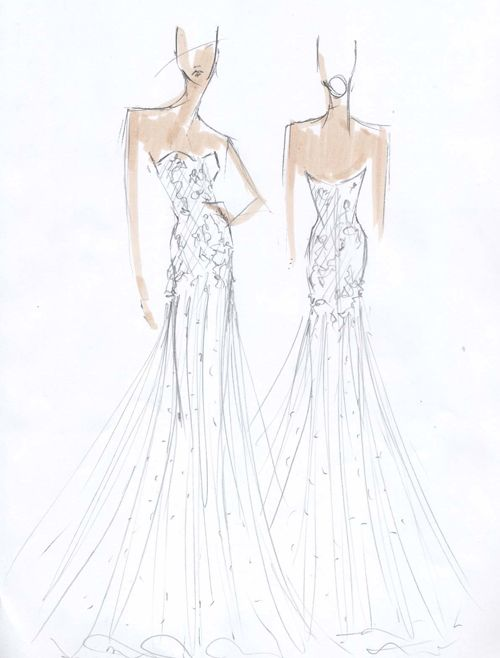 Exclusive Spring 2015 Wedding Dress Sketches | wedding gown sketches ...