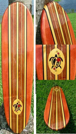 TIKI SOUL DECORATIVE SURFBOARD ART - Honu Classic Surfboard decor ...