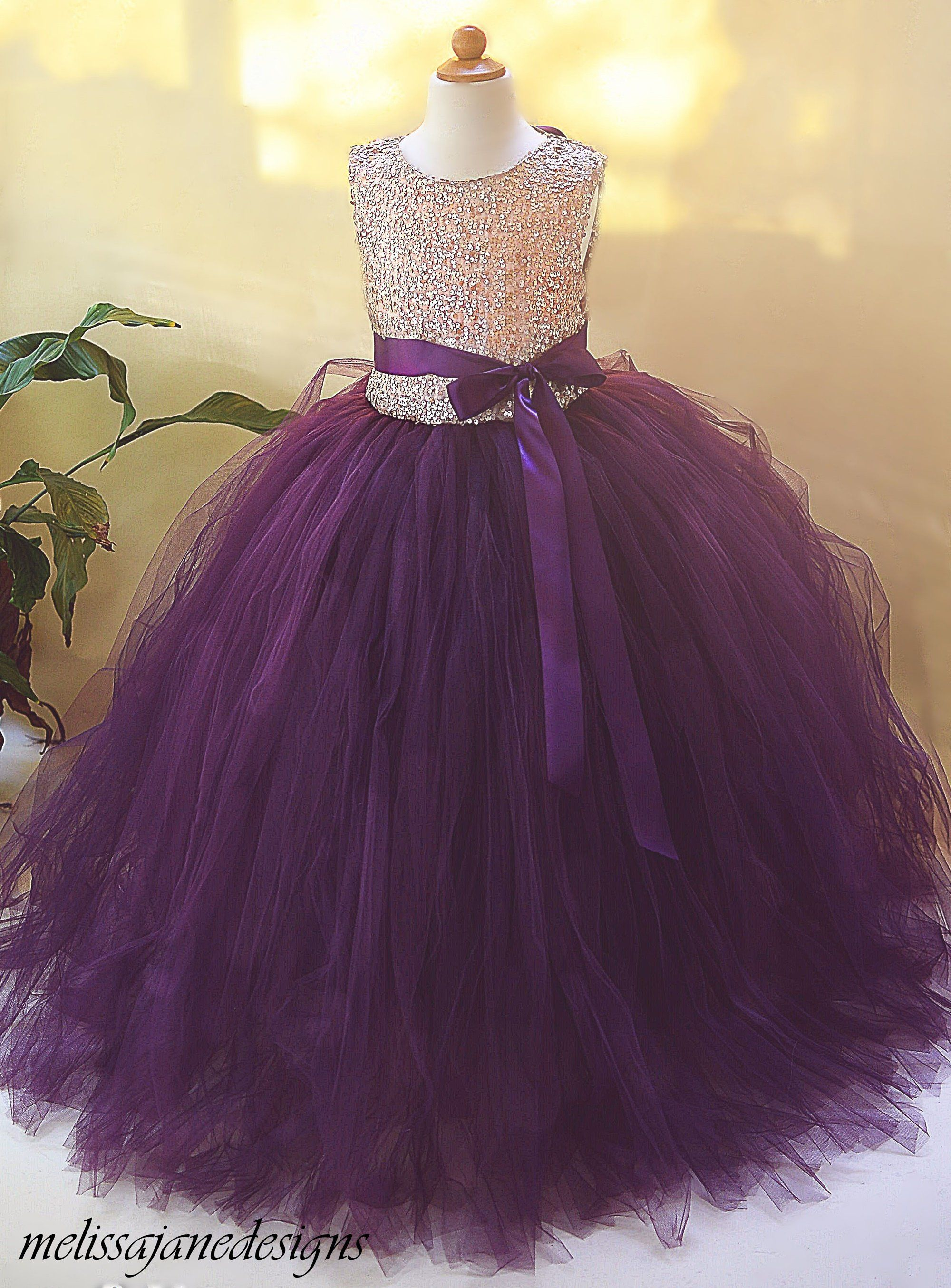 1f2a3c3ab Gold and Plum/eggplant Sequin Flower Girl Dress | MelissaJaneDesigns |  Quality Children's Dresses