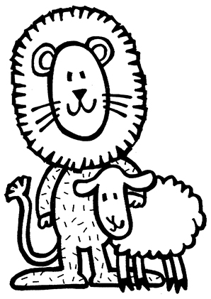 Ausmalbild Lowe Und Schaf Zum Kostenlosen Ausdrucken Und Ausmalen Ausmalbilder Ausmalbilderlowe Malvorl Ausmalbild Lowe Lowen Malvorlagen Ausmalbilder
