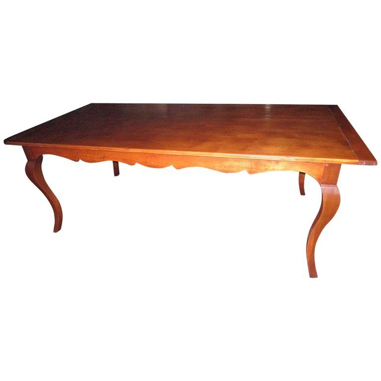 19th Century French Country Fruitwood Dining Table From A Unique