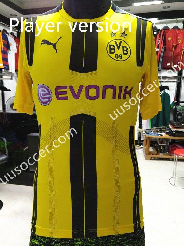 201617 Borussia Dortmund Home Yellow Thailand Soccer Jersey