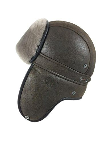 ef164dd8699 Zavelio Women s Shearling Sheepskin Aviator Russian Ushanka with Snap Hat X- Large Camel     You can get additional details at the image link.