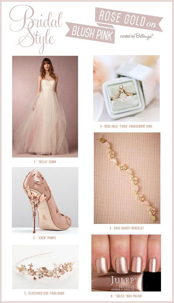 How To Match A Blush Pink Wedding Dress With Rose Gold Accessories