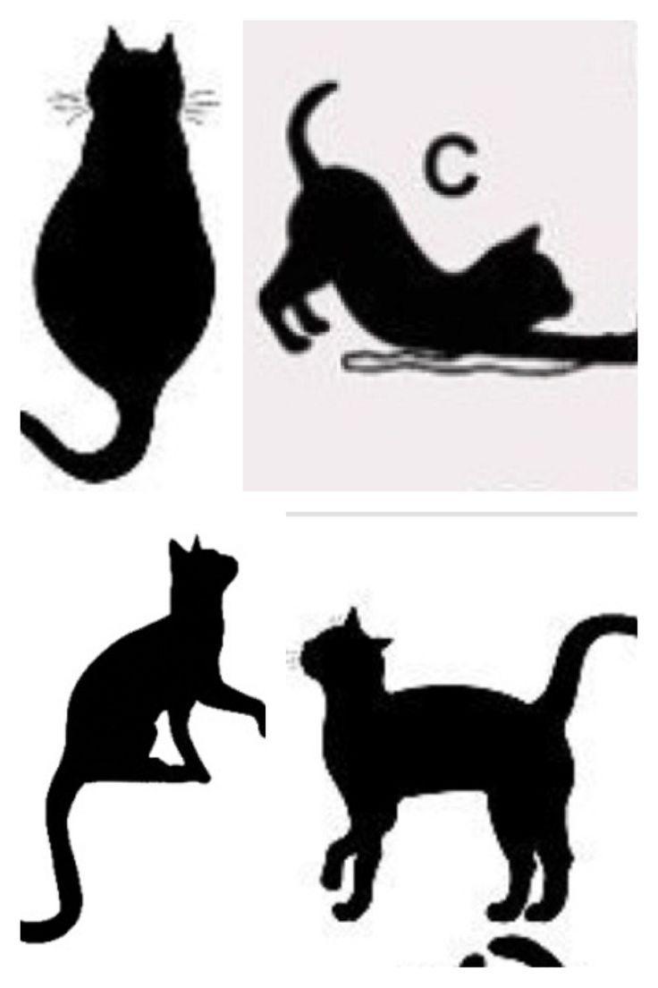 Cat Silhouette Tattoo Ideas Tattoos Pinterest Cool Tattoos