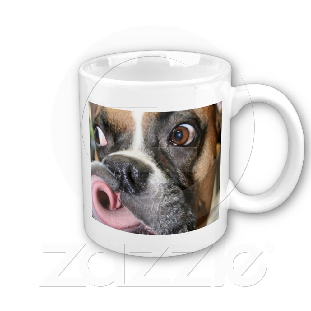 Funny Boxer Dog Mug From Zazzle 13 95 What A Tongue P S This Board Is Curated By Packdog Co If You Love Are Going To Pack