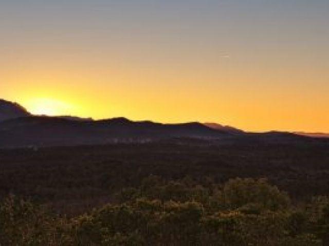 Unser einsamer Platz für das Wochenende, 6 km von Bras entfernt, bekommt fünf Sterne.
