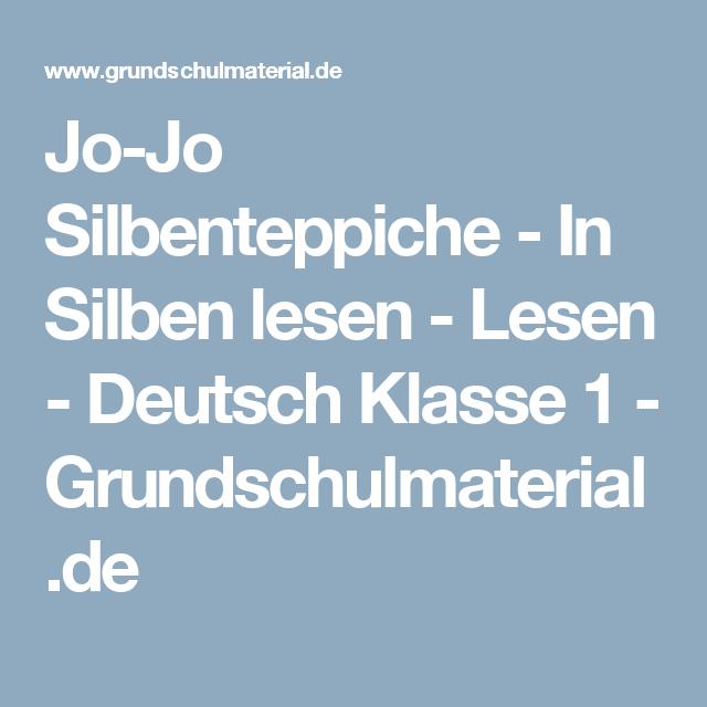 Jo Jo Silbenteppiche In Silben Lesen Lesen Deutsch