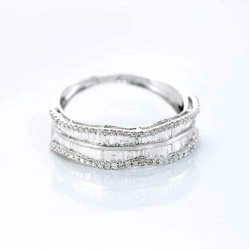 دبلة ألماس 0 60 قيراط على ذهب أبيض عيار 18 Maryam Co Silver Bracelet Rose Gold Ring Gold Rings